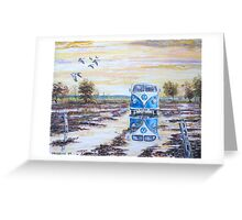 Volkswagen camper / After the rain. Greeting Card