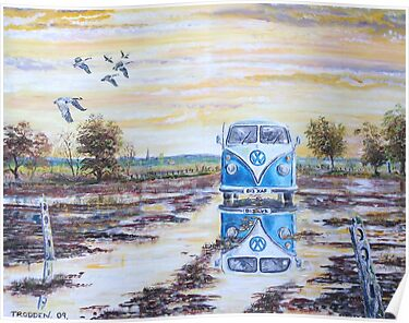 Volkswagen camper / After the rain. by Joe Trodden