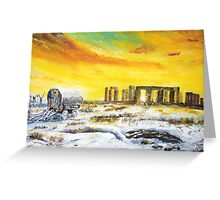 Stonehenge in the winter of 47. Greeting Card