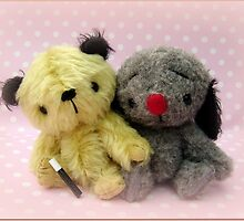 Sooty and Sweep - Handmade bears from Teddy Bear Orphans by Penny Bonser