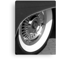 Black & White wall tyre Canvas Print