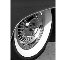 Black & White wall tyre Photographic Print