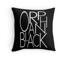 Orphan Black - Letters (White) Throw Pillow