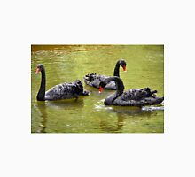 Black swans with red beaks Unisex T-Shirt