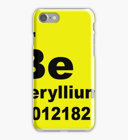 Beryllium Periodic Table of Elements iPhone Case/Skin