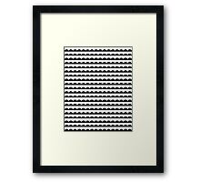 Scallop - Black and white minimal design print hipster urban city brooklyn socal san francisco bay portland  Framed Print