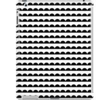 Scallop - Black and white minimal design print hipster urban city brooklyn socal san francisco bay portland  iPad Case/Skin