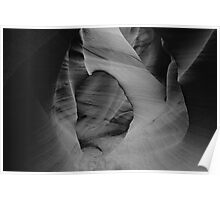 Slot Canyons 4 B&W Poster