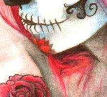 Candy Skull Chick Sticker