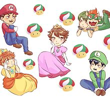 Haikyuu!! Super Mario crossover by SpigaRose