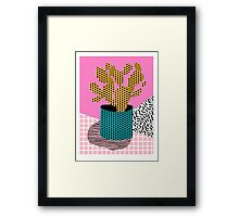 Ace - 80's throwback retro vintage hipster texture vinyl record 1980's 90's cool memphis bright fun Framed Print