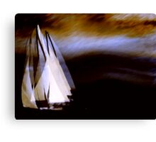 racing the storm.... Canvas Print