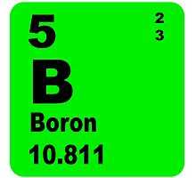 Boron Periodic Table of Elements by walterericsy
