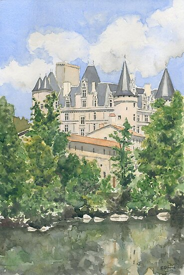 The Château, La Rochefoucauld, France by ian osborne