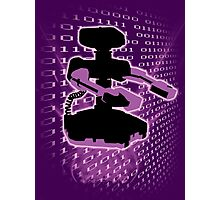 Super Smash Bros Purple ROB Silhouette Photographic Print