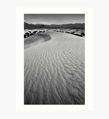 Sand dune - Death Valley Art Print