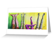 Who is cheating? Legs Up! Greeting Card