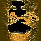Super Smash Bros Yellow/Gold ROB Silhouette by jewlecho
