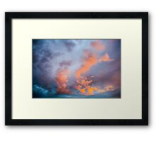 Colorful clouds  Framed Print
