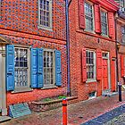 The Row Homes of Elfreths Alley by Monte Morton