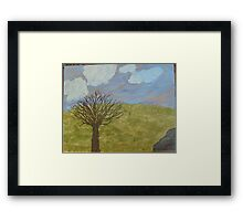 Alone at Dusk Framed Print
