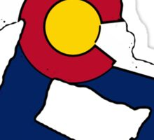 Colorado flag snowboarder Sticker