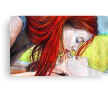 That Cute Kiss Canvas Print