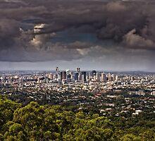 Stormy Brisbane by AllshotsImaging