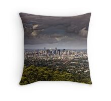 Stormy Brisbane Throw Pillow