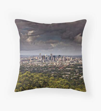 Stormy Brisbane Throw Pillow