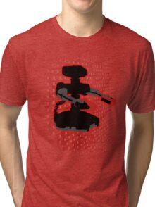 Super Smash Bros Red ROB Silhouette Tri-blend T-Shirt