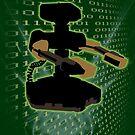 Super Smash Bros Green ROB Silhouette by jewlecho
