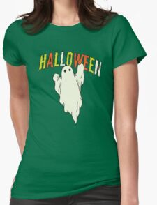 Halloween ghost Womens Fitted T-Shirt