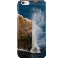 Exploding against the rocks iPhone Case/Skin