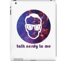 NERDY TALK ― for him iPad Case/Skin