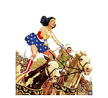 Wonder Woman on Horseback Photographic Print