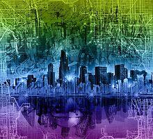 chicago city skyline 2 by BekimART
