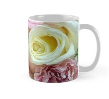 Pink and white rose bouquet Mug