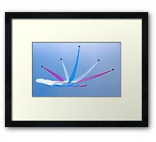 Red Arrows at Lowestoft Airshow (Aug 2010) Framed Print