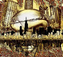 chicago city skyline 3 by BekimART