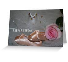 Ballet Beauty Birthday Card Greeting Card