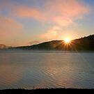 Sunburst Over The Reservoir by Geno Rugh