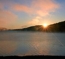 Sunburst Over The Reservoir by Geno Rugh