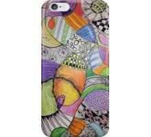 Zentangle-Inspired Multi-Colored Phone Case iPhone Case/Skin