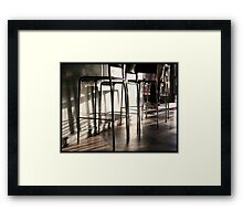Coffee Bar Framed Print