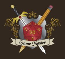 Game Master Red d20 Crest by NaShanta