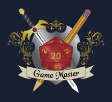 Game Master Red d20 Crest Kids Tee