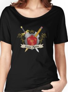 Game Master Red d20 Crest Women's Relaxed Fit T-Shirt