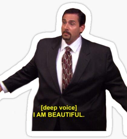 Michael Klump - I Am Beautiful  Sticker