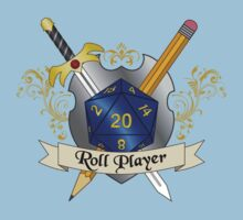 Roll Player Blue d20 Crest Baby Tee